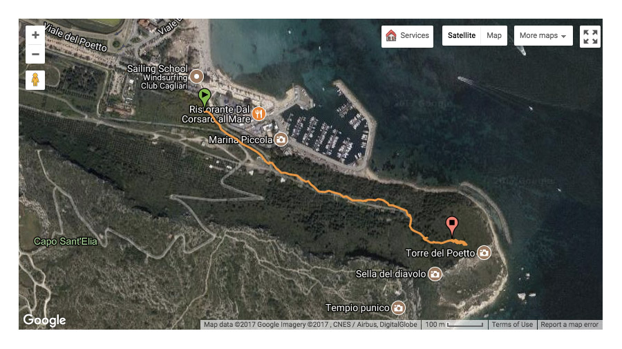 Torre del Poetto Map1 - Matejalicious Travel and Adventure
