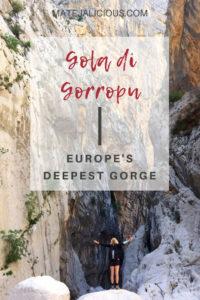 Gola Di Gorropu Europes Deepest Gorge - Matejalicious Travel and Adventure