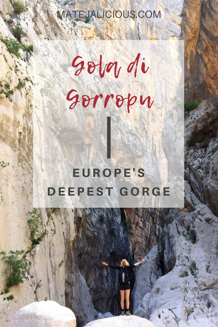 Gola Di Gorropu Europes Deepest Gorge - Matejalicious Travel and Adventure