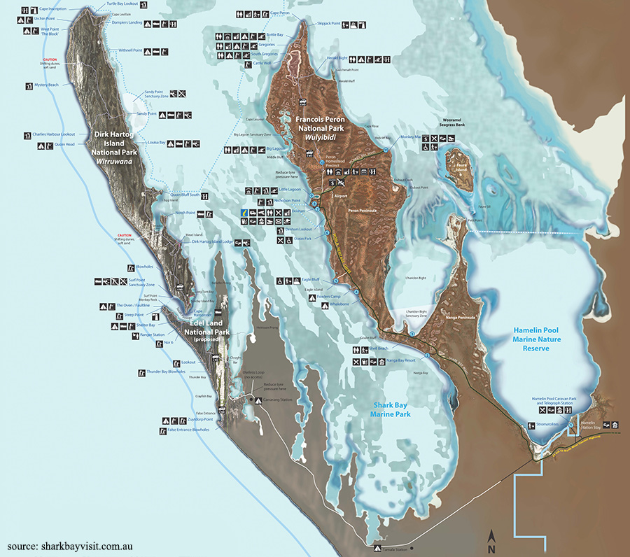 Shark Bay Map - Matejalicious Travel and Adventure