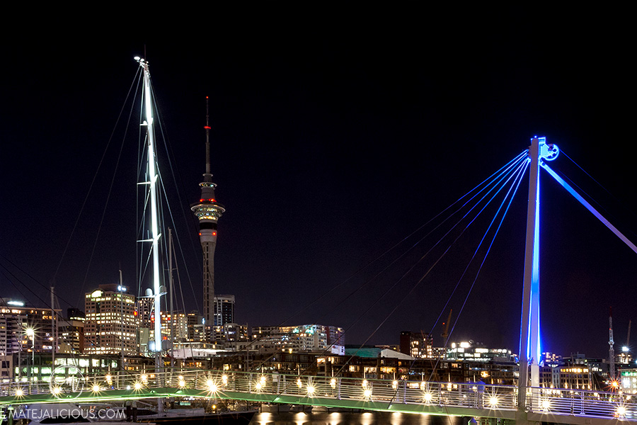 Auckland City by night - Matejalicious Travel and Adventure