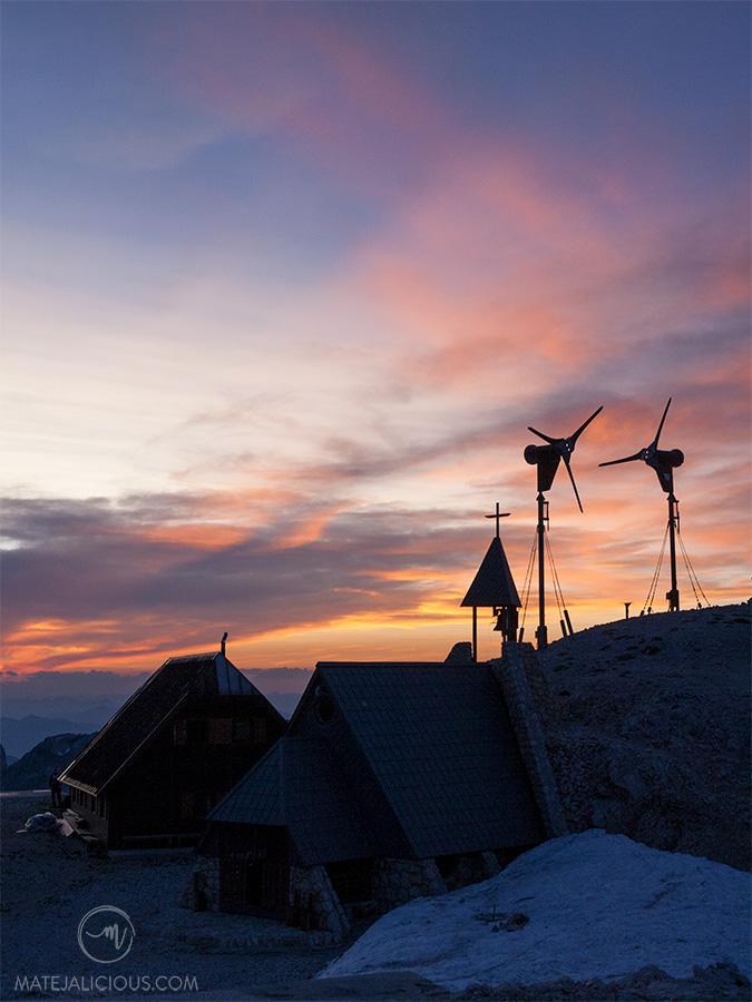 Kredarica Hut Sunset - Matejalicious Travel and Adventure